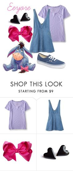 """Eeyore"" by princessestrada ❤ liked on Polyvore featuring Aéropostale and Vans"