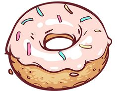 Cute Food Drawings, Cute Kawaii Drawings, Bubble Stickers, Cool Stickers, Cute Wallpaper Backgrounds, Cute Cartoon Wallpapers, Donut Drawing, Donut Decorations, Kawaii Doodles