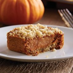 Pumpkin Streusel Cheesecake Squares  - The Pampered Chef®
