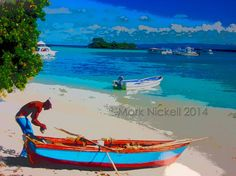 Samana Bay Fishing Boat Water Pix Dominican by DrMarksPhotoGallery