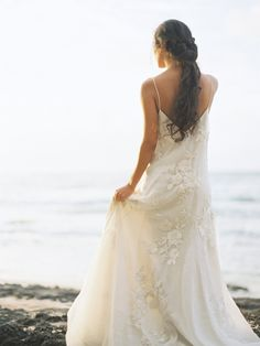 Lace gown: http://www.stylemepretty.com/2015/08/22/pops-of-pretty-2/