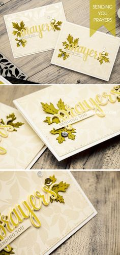 Create beautiful Sending You Prayers card with Hero Arts Prayers stamp & die set. For details and video tutorial, visit http://www.yanasmakula.com/?p=51393