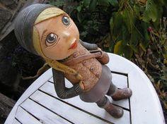 Sculpture Clay, Garden Sculpture, Paper Mache, Clay Art, Arts And Crafts, Pottery, Dolls, Outdoor Decor, Handmade
