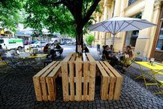 holzpaletten diy garten möbel aus paletten europalettentisch sitzbank selber bauen