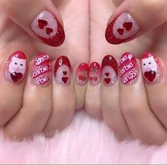 Discovered by kawaii kanye west. Find images and videos about cute, pink and nails on We Heart It - the app to get lost in what you love. Fancy Nails, Love Nails, How To Do Nails, Pretty Nails, Manicure Y Pedicure, All I Ever Wanted, Cute Nail Designs, Nail Inspo, Short Nails