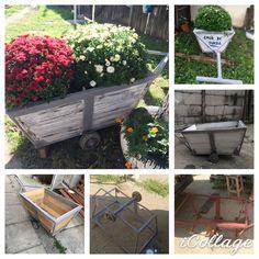 #mywork #flower refurbishment of #old #trolley #restored #wedding #gift #garden #handcrafted #gardenideas #green