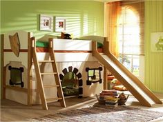 forts are good. love that they added a slide. How fun would this be in the daycare room!?