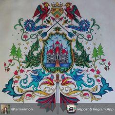 Coat of Arms Castle Enchanted Forest. Brasão Castelo Floresta Encantada. Johanna Basford