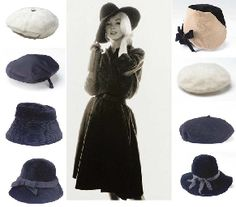 A group of eight hats owned by Marilyn Monroe, Christie's, New York