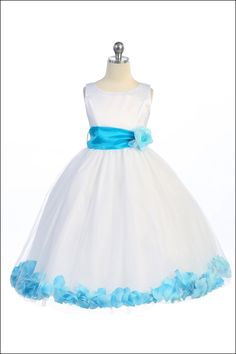 White Flower Girl Dresses with Coral Sash