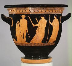Attributed to the Persephone Painter | Terracotta bell-krater (bowl for mixing wine and water) | Greek, Attic | Classical | The Met