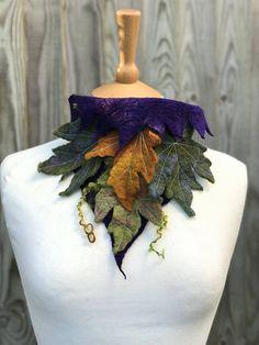 Autumn Leaf necklace neck warmer autumn scarf leaf