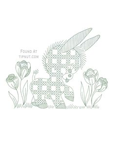 Gingham Nursery Characters Collection - Donkey Tiptoeing Through Tulips