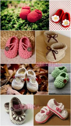 picture, cute crocheted baby booties