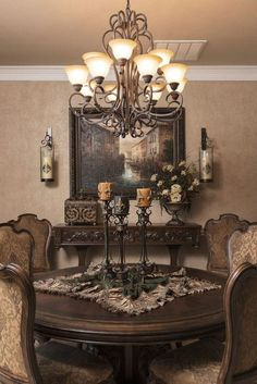Delightful and luxurious western dining room design 12 - Rockindeco - Delightful . - Delightful and luxurious western dining room design 12 – Rockindeco – Delightful and luxurious - Decor, Tuscan Dining Rooms, Luxury Dining Room, Dining Room Furnishings, Dining Room Nook, Mediterranean Home Decor, Home Decor, Room Design, Dining Room Colors
