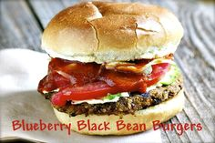 Blueberry Black Bean Burger via @Marly | Namely Marly