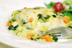 Oh SO Delicioso!: Roasted Vegetable White Lasagna