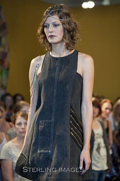 Refashioned denim dress idea