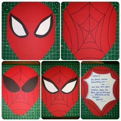 spiderman handmade birthday party invitations Jayden Spiderman