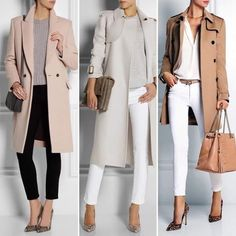 50 Interesting Winter Work Outfits to Beat Your Monday Blues, Winter Outfits, Sleek Minimalistic Pastel Overcoat. Classy Work Outfits, Winter Outfits For Work, Work Casual, Summer Outfits, Formal Winter Outfits, Outfit Winter, Mode Outfits, Chic Outfits, Fashion Outfits
