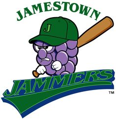 Jamestown Jammers (Short Season A, New York-Penn League) Maybe the meanest looking grapes I've ever seen. Baseball Mascots, Team Mascots, Minor League Baseball, Baseball Teams, Best Team Names, Milb Teams, Bad Logos, Sports Marketing, Great Logos