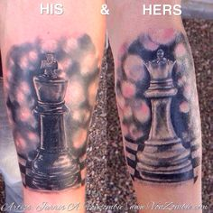 15fc5ff3caf6d His and Hers King/ Queen Chess pieces created by Jarris Vonzombie. V O N Z  O M B I E · My Tattoo Art Portfolio