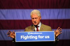 The former Secretary of State is just 90 delegates shy of clinching the Democratic nomination.  [...] on Thursday Clinton said in a CNN interview that she would be the nominee and stressed that she wanted Sanders to help unify the Democratic party.  In Sioux Falls, about 350 people crowded into a concert venue draped in American flags to hear the former president, who stressed his wife's experience and ability to work across the aisle.  While he focused largely on his wife's achievements…