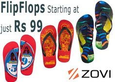 Get Mens & Womens Flip Flops starting at Just Rs. 99 at Zovi