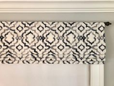 Kelly Ripa Home Good Vibes Ebony. Black, Grey and Cream. Other colors are available:) Faux Roman Shades, Shabby, Ribbon Colors, Valance Curtains, Kitchen Curtains, Valance Ideas, Window Valances, Farmhouse Curtains, Curtain Ideas