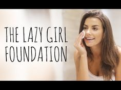 THE LAZY GIRL'S FOUNDATION TUTORIAL - YouTube - MAKE UP FOR EVER Powder Foundation pro finish - Bare Minerals stroke of light eye brightener