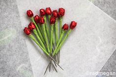 Making miniature roses out of headpins