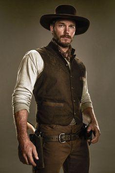 """ The Magnificent Seven - Chris Pratt as Josh Faraday "" Christopher Pratt, Chris Pratt, The Magnificent Seven, Star Lord, Le Far West, Sharp Dressed Man, Attractive Men, Beard Styles, Wild West"
