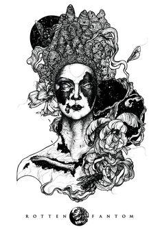 Rotten Fantom / Wild Honey by Elena Snegotckaia, via Behance