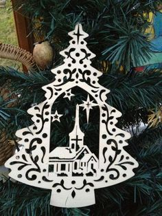 laser cut wooden christmas decoration - Daisymoon Designs