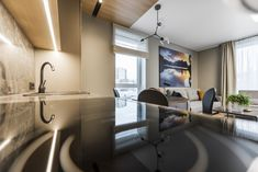 Privatus gyvenamasis  Nr. 134  2017 - interjeras.lt Roman Curtains, Conference Room, Table, Furniture, Home Decor, Roman Blinds, Roman Shades, Decoration Home, Room Decor