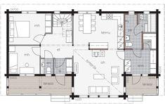 Sauna, Future House, Garage, Villa, Floor Plans, Cabin, How To Plan, House Ideas, Chalets
