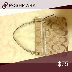 Coach bag Silver and beige Coach Bags Shoulder Bags