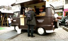 Bonjour Belgium: Nomads Coffee Bar, Overmere in the form of a chocolate-coated cappuccino converted Combi VW. Yummy!