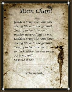 Rain Chant. . .