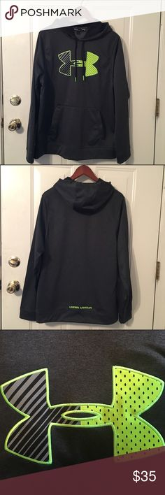 NWOT Under Armour Lime Green & Gray Sweatshirt Charcoal gray and lime green hooded sweatshirt from Under Armour. Size Medium. 100% polyester. NWOT. Under Armour Shirts Sweatshirts & Hoodies