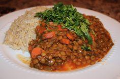 Lentil Curry   Habits for the Soul ♥ #habitsforthesoul #dinner #recipe #glutenfree