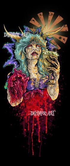 #art #dahmerart #girlsgirlsgirls #bloodymess #blood #horror #horrorart #gore