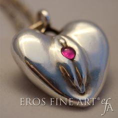 Heart pendant Yoni heart Erotic heart, backside form of a sensual heart/botty…