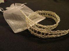 #DIY #Crochet #Diadema #complementos #boda #wedding #headband #hilo de plata
