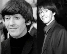 George and Dani Harrison... wow. Look at that resemblance.