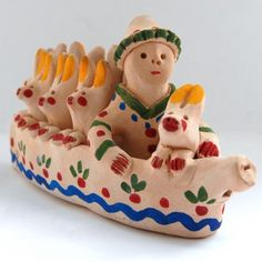 Whistle 'Hares in boat'. Hare, Ceramic Art, Boat, Traditional, People, Dinghy, Bunny, Ceramics, Boats