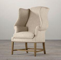 Restoration Hardware, 1920s Georgian Wingback Chair