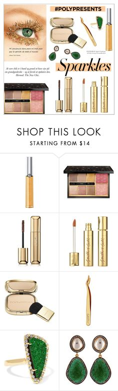 """""""#PolyPresents: Sparkly Beauty"""" by alinepinkskirt on Polyvore featuring beauty, Giorgio Armani, Guerlain, Smith & Cult, Dolce&Gabbana, tarte, Kimberly McDonald, Carousel Jewels, contestentry and polyPresents"""