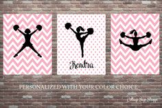 Personalized, Cheerleading Sign, Personalized Cheerleaders Wall Decor, DOWNLOAD Art, Custom Colors Wall Art,Girls Cheerleading Birthday Gift by CottageArtShoppe on Etsy