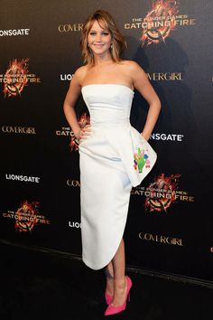 Jennifer Lawrence in Christian Dior at a Cannes Film Festival party for The Hunger Games: Catching Fire on May Jennifer Lawrence Hunger Games, Jennifer Lawrence Style, Dior Couture, Christian Dior, Kentucky, Hollywood Actress Photos, Dresser, Vogue, Glamour